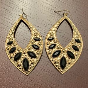 Gold & Black earring